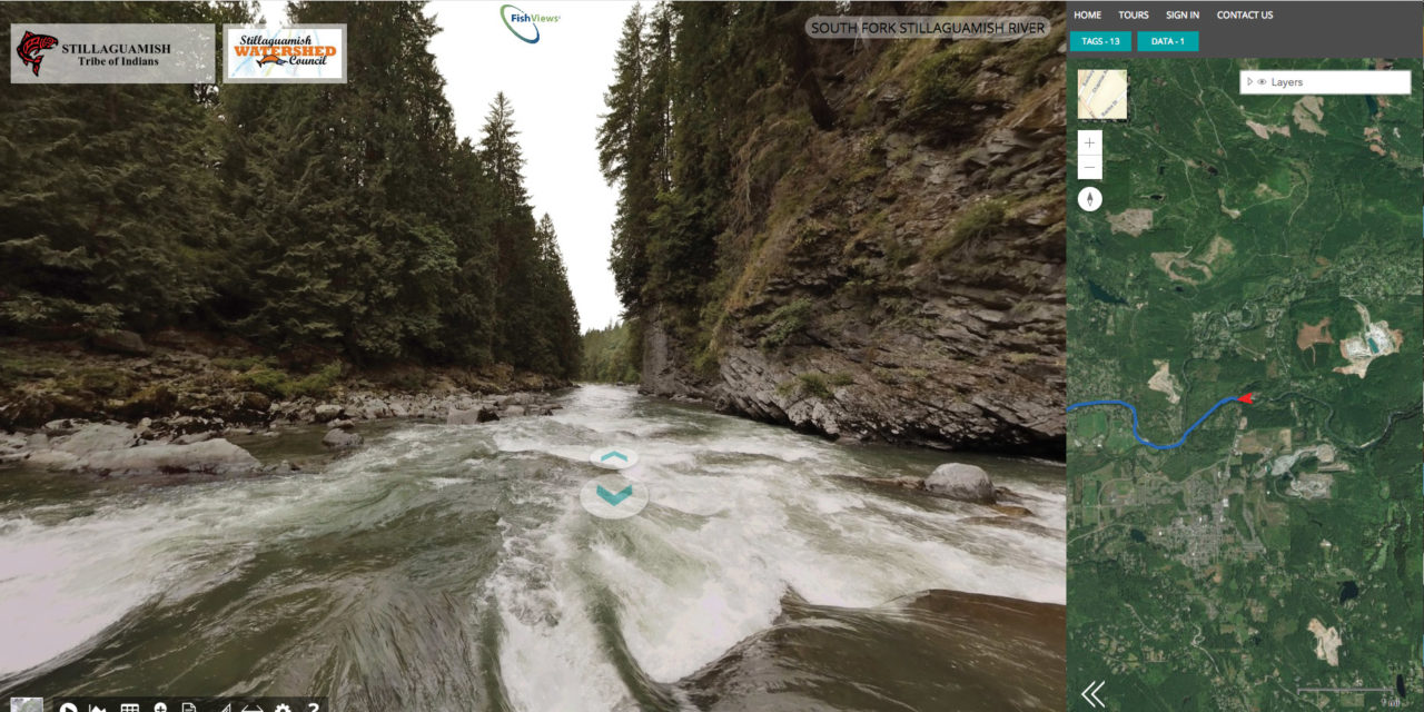 FISHVIEWS: A PANORAMIC VIRTUAL TOUR OF STILLAGUAMISH RIVER